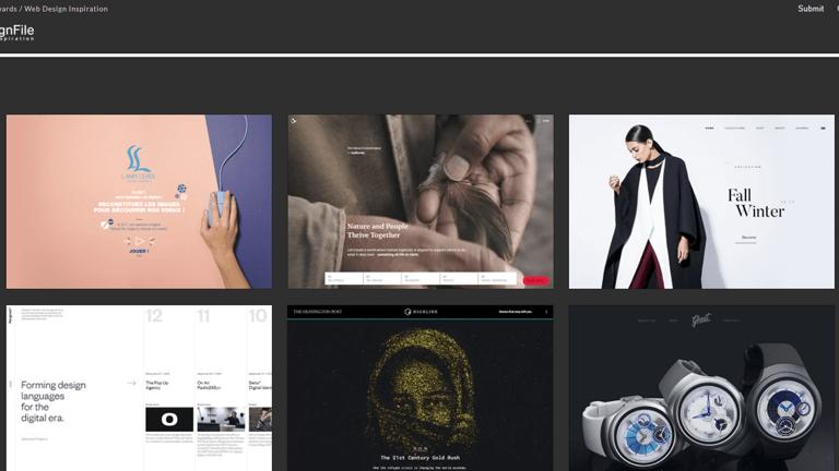 海外のギャラリーサイトwebdesignfile